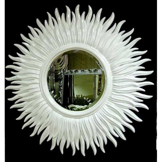 Зеркало солнце с лучами «Маргарита» Белое в интернет-магазине ROSESTAR фото