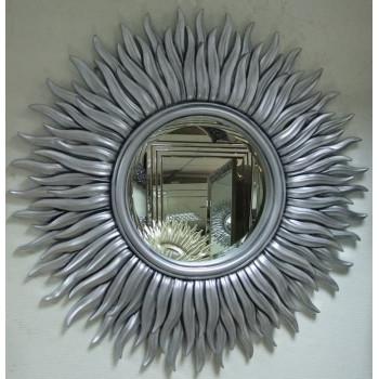Зеркало солнце с лучами «Маргарита» Чернёное Серебро