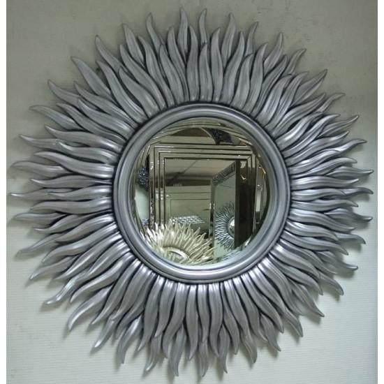 Зеркало солнце с лучами «Маргарита» Чернёное Серебро в интернет-магазине ROSESTAR фото