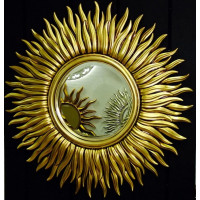 Зеркало солнце с лучами «Маргарита» Чернёное Золото