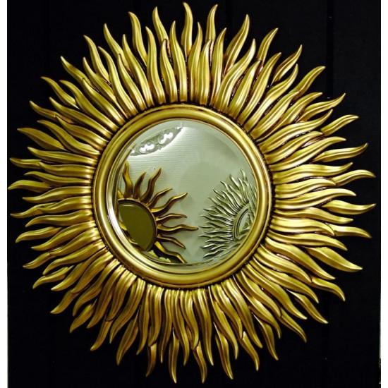 Зеркало солнце с лучами «Маргарита» Чернёное Золото в интернет-магазине ROSESTAR фото