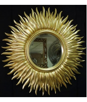 Зеркало солнце с лучами «Маргарита» Светлое золото