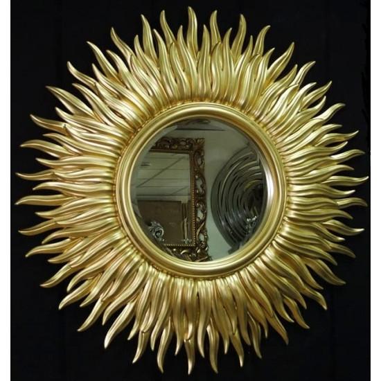 Зеркало солнце с лучами «Маргарита» Светлое золото в интернет-магазине ROSESTAR фото