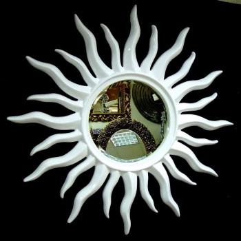 Зеркало солнце Rimini Белое