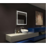 Квадратное настенное зеркало со светодиодной LED-подсветкой Garton в интернет-магазине ROSESTAR фото 1