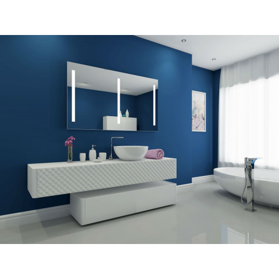 Зеркало со светодиодной LED-подсветкой для ванной Верано-3 в интернет-магазине ROSESTAR фото