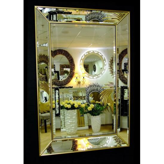 Венецианское зеркало «Генри» в зеркальной раме Античное Золото в интернет-магазине ROSESTAR фото