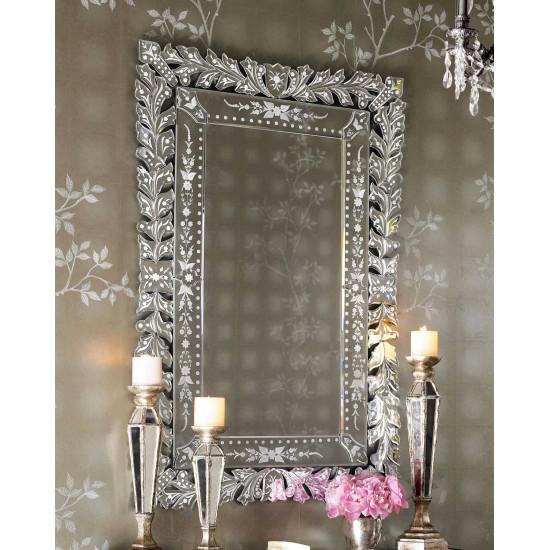 Венецианское настенное прямоугольное зеркало Глэм в интернет-магазине ROSESTAR фото