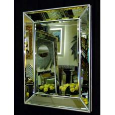 Венецианское зеркало Selfie 2 в зеркальной раме Античное Серебро
