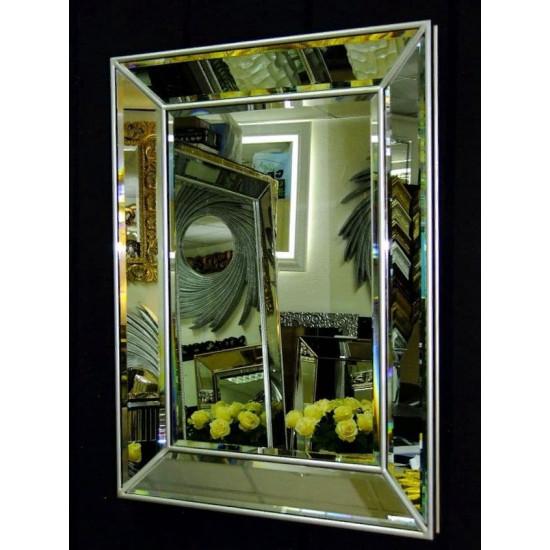Венецианское зеркало Selfie 2 в зеркальной раме Античное Серебро в интернет-магазине ROSESTAR фото