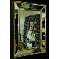 Венецианское зеркало Selfie 2 в зеркальной раме Античное Золото