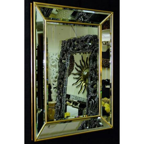 Венецианское зеркало Selfie 2 в зеркальной раме Античное Золото в интернет-магазине ROSESTAR фото