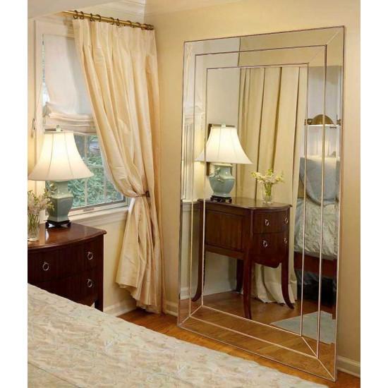 Венецианское зеркало напольное и настенное  «Версаль» в зеркальной раме Античное Золото в интернет-магазине ROSESTAR фото