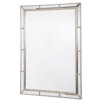 """Зеркало настенное в раме """"Велингтон"""" Серебро"""