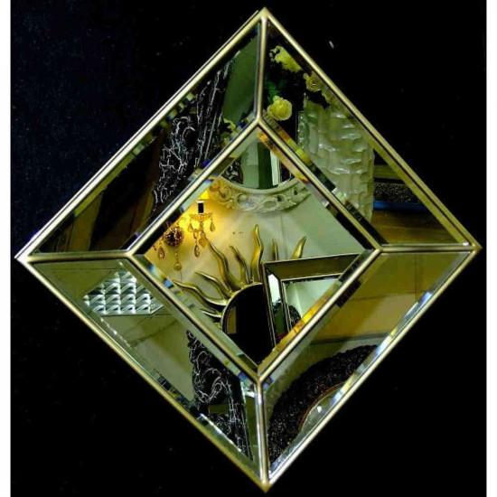 Венецианское зеркальное панно «Кристалл» Бронза