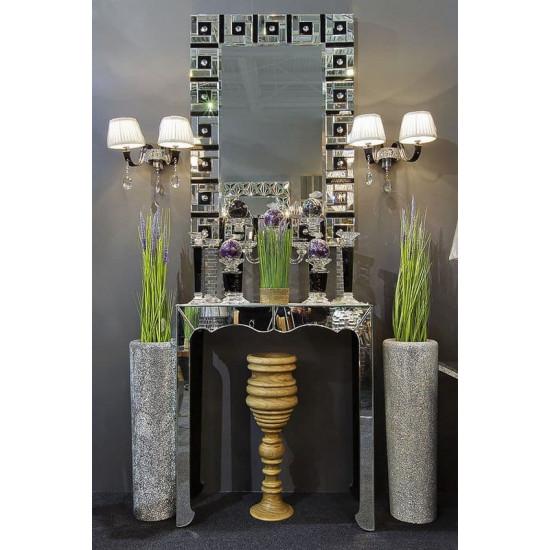 Венецианское прямоугольное декоративное зеркало «Манхэттен» в интернет-магазине ROSESTAR фото