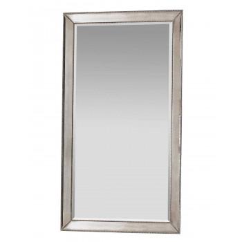 Напольное большое зеркало в серебряной раме в полный рост Wilshire Античное Серебро