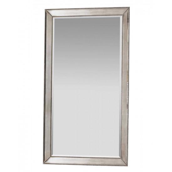 Напольное большое зеркало в серебряной раме в полный рост Wilshire Античное Серебро в интернет-магазине ROSESTAR фото