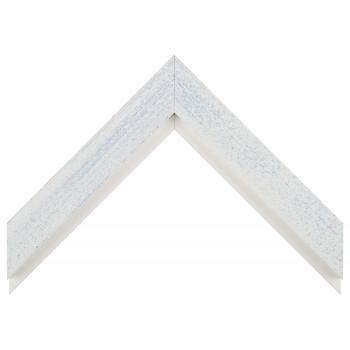 Деревянный багет Белый с голубым протиром 017.63.016