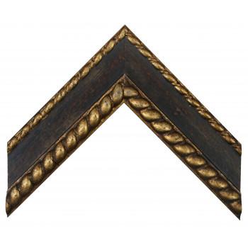 Деревянный багет Черный 12483110