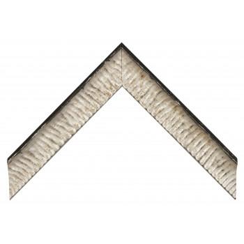 Деревянный багет Черный с серебром 237.54.044