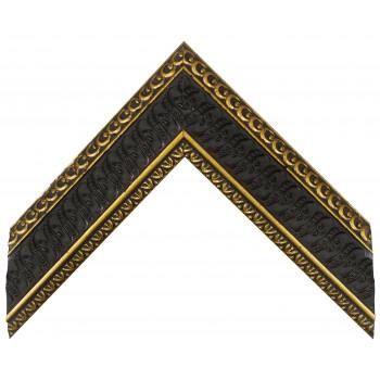Деревянный багет Черный с золотом 312.64.073