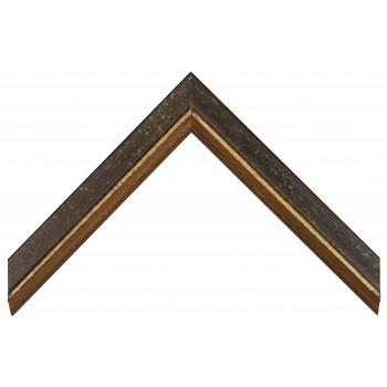 Деревянный багет Черный с золотом 356.43.073