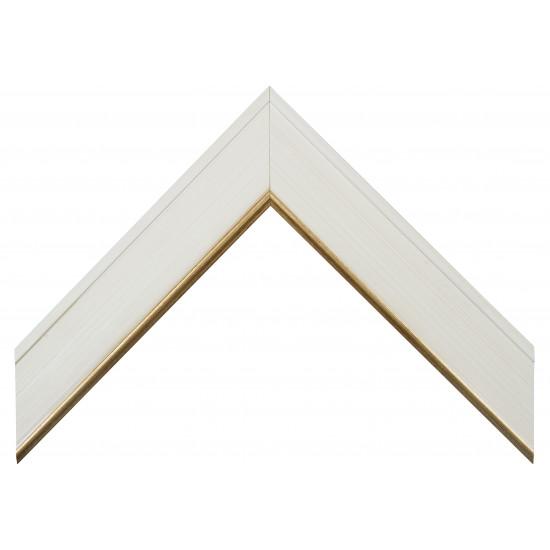 Деревянный багет Белый с золотом 386.45.156 в интернет-магазине ROSESTAR фото