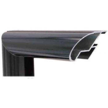 Алюминиевый багет черный глянцевый 48-26