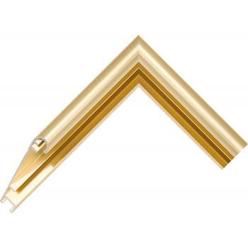 Алюминиевый багет золото блестящий 58-13