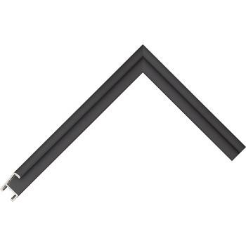 Алюминиевый багет вороной черный матовый 84-30