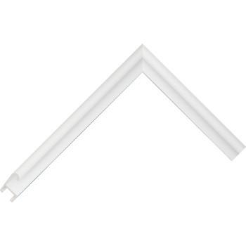 Алюминиевый багет белый глянцевый 85-102