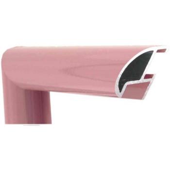 Алюминиевый багет темно-розовый блестящий 87-107
