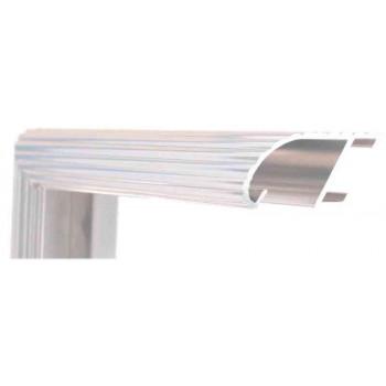 Алюминиевый багет серебро блестящий 88-11