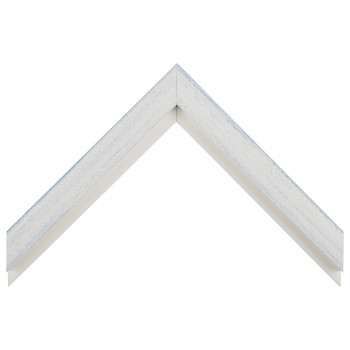 Деревянный багет Белый с серым протиром 017.53.016