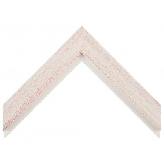 Деревянный багет Белый с красным протиром 017.63.046 в интернет-магазине ROSESTAR фото