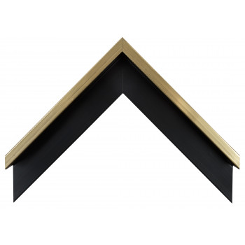 Деревянный багет Черный с золотом 106.51.073