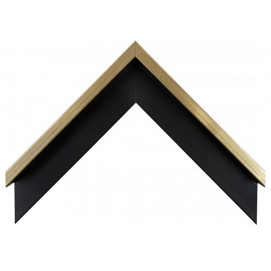 Деревянный багет Черный с золотом 106.51.073 в интернет-магазине ROSESTAR фото