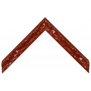 Деревянный багет Красный глянцевый 270.33.046