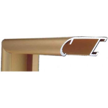 Алюминиевый багет золото матовый 43-14