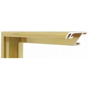 Алюминиевый багет золото блестящий 52-13