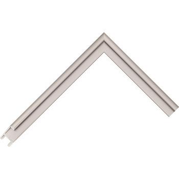 Алюминиевый багет серое олово матовый 84-17