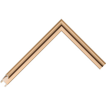Алюминиевый багет светлая бронза блестящий 85-21