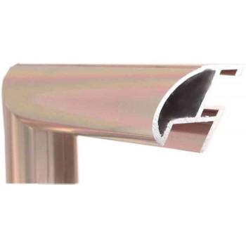 Алюминиевый багет светлая бронза блестящий 87-21