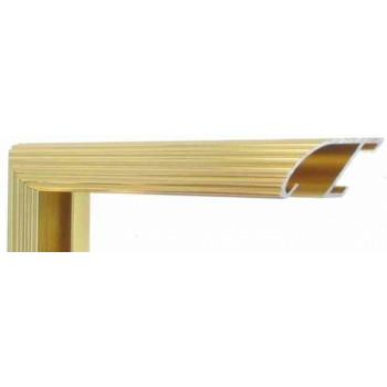Алюминиевый багет золото блестящий 88-13