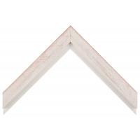 Деревянный багет Белый с красным протиром 017.53.046