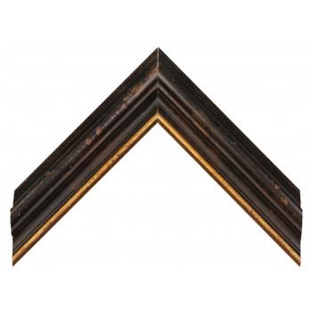 Деревянный багет Черный 18563110