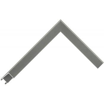 Алюминиевый багет серое олово матовый 29-х17