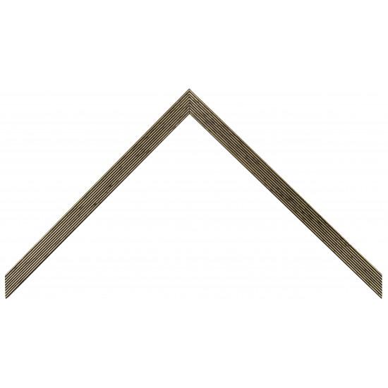 Деревянный багет Черный с золотом 328.13.043 в интернет-магазине ROSESTAR фото