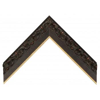Деревянный багет Черный с золотом 355.53.073